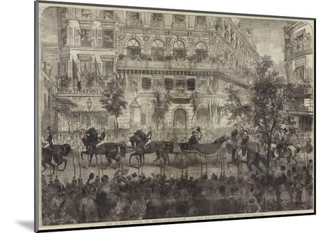 The Queen's Visit to Paris, Procession on the Boulevards Des Italiens--Mounted Giclee Print