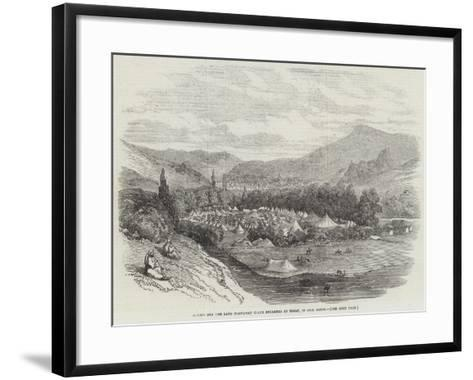 Horses for the Land Transport Corps Encamped at Tocat, in Asia Minor--Framed Art Print