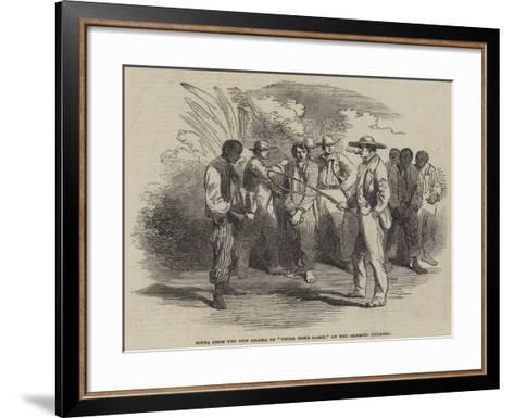 Scene from the New Drama of Uncle Tom's Cabin, at the Olympic Theatre--Framed Art Print