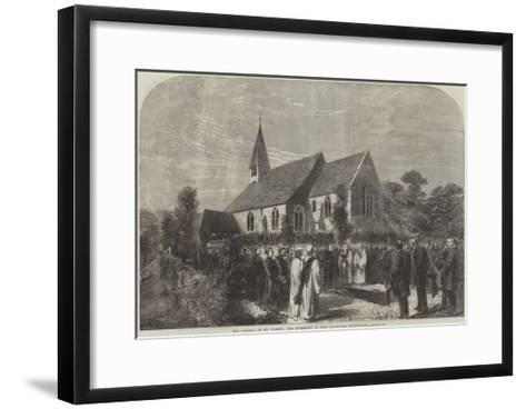 The Funeral of Mr Cobden, the Interment in West Lavington Churchyard--Framed Art Print