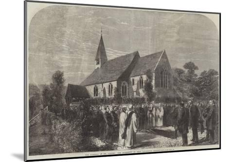 The Funeral of Mr Cobden, the Interment in West Lavington Churchyard--Mounted Giclee Print