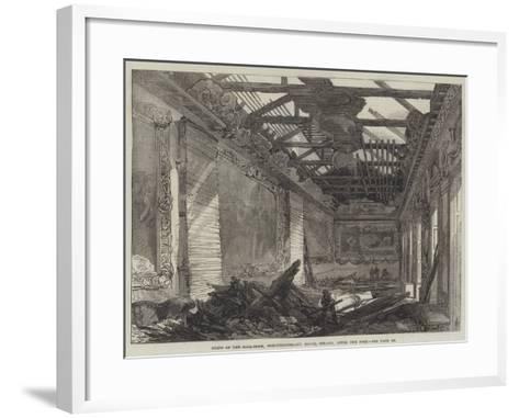 Ruins of the Ball-Room, Northumberland House, Strand, after the Fire--Framed Art Print