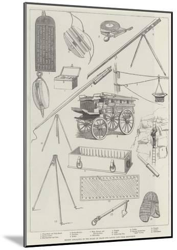Rocket Apparatus of the Board of Trade for Saving Life from Shipwreck--Mounted Giclee Print