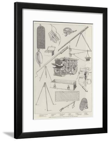 Rocket Apparatus of the Board of Trade for Saving Life from Shipwreck--Framed Art Print