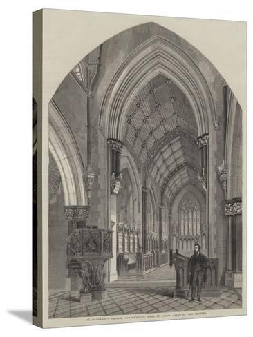 St Margaret's Church, Bodelwyddan, Near St Asaph, View of the Chancel--Stretched Canvas Print