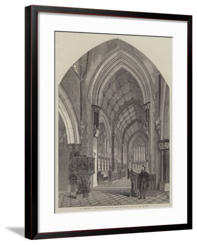 St Margaret's Church, Bodelwyddan, Near St Asaph, View of the Chancel--Framed Art Print