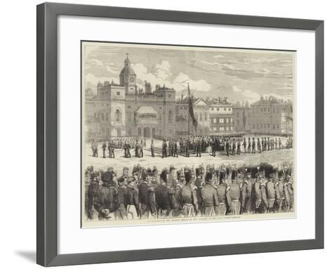 Distribution of the Crimean Medals by Her Majesty, at the Horse Guards--Framed Art Print