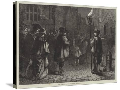 Going to Midnight Mass in the Sixteenth Century in France--Stretched Canvas Print