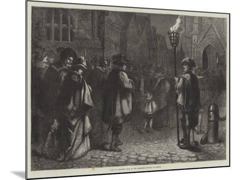 Going to Midnight Mass in the Sixteenth Century in France--Mounted Giclee Print