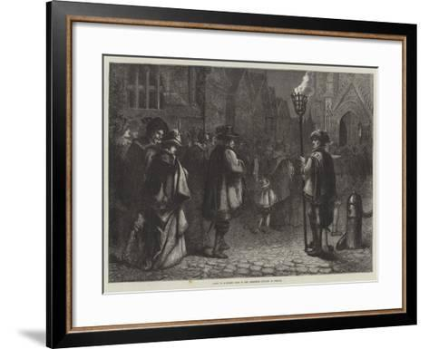 Going to Midnight Mass in the Sixteenth Century in France--Framed Art Print
