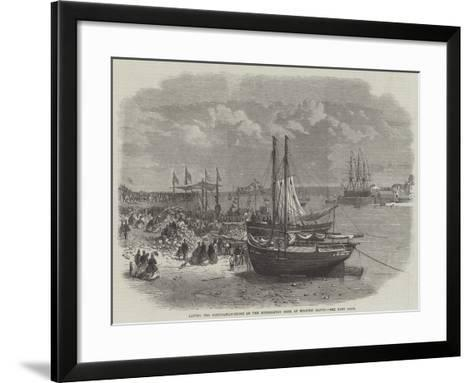 Laying the Foundation-Stone of the Hubberston Dock at Milford Haven--Framed Art Print