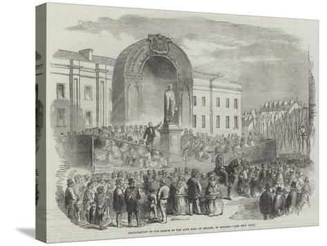 Inauguration of the Statue of the Late Earl of Belfast, at Belfast--Stretched Canvas Print
