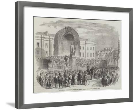 Inauguration of the Statue of the Late Earl of Belfast, at Belfast--Framed Art Print