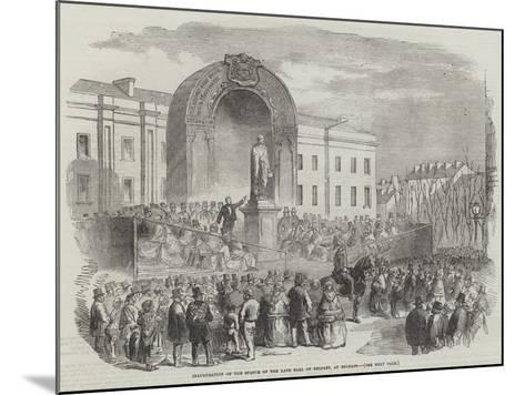 Inauguration of the Statue of the Late Earl of Belfast, at Belfast--Mounted Giclee Print