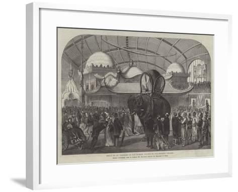 Model of an Elephant in the Siamese Section of the Machine Gallery--Framed Art Print