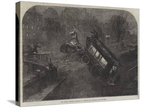 The Fatal Omnibus Accident at Dublin, on Saturday, the 6th Inst--Stretched Canvas Print