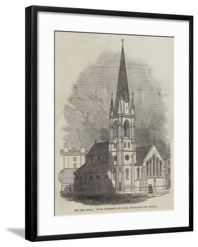 The New Church of St Matthew, City Road, Consecrated on Tuesday--Framed Art Print