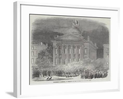 Illumination of Montreal, to Celebrate the Fall of Sebastopol--Framed Art Print