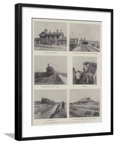 Railway Enterprise in China, the New Shanghai-Woosung Line--Framed Art Print