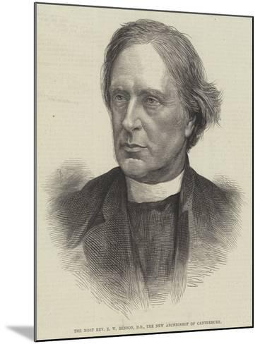 The Most Reverend E W Benson, Dd, the New Archbishop of Canterbury--Mounted Giclee Print