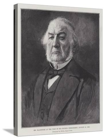 Mr Gladstone at the Time of His Fourth Premiership, 15 August 1892--Stretched Canvas Print