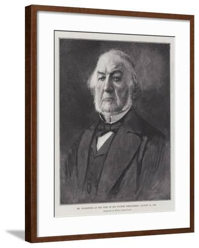 Mr Gladstone at the Time of His Fourth Premiership, 15 August 1892--Framed Art Print