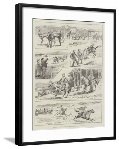 Adventures of a Pack-Outfit in the Rocky Mountains, North America--Framed Art Print