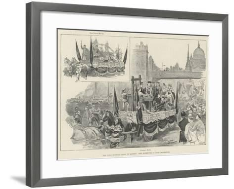 The Lord Mayor's Show in London, Two Novelties in the Procession--Framed Art Print
