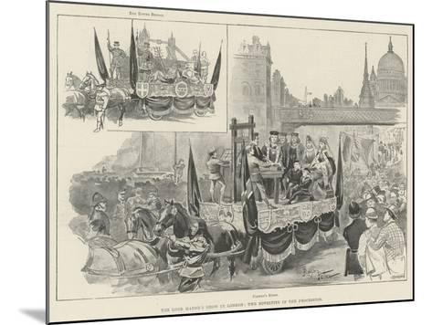 The Lord Mayor's Show in London, Two Novelties in the Procession--Mounted Giclee Print