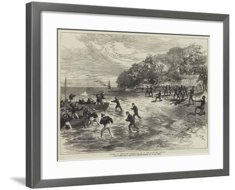 Murder of Commodore Goodenough, Rn, in the South Sea Islands--Framed Art Print