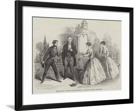 Scene from Rose Et Marguerite, at the St James's Theatre--Framed Art Print