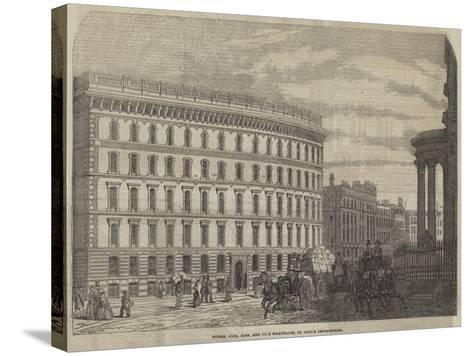Messers Cook, Sons, and Company's Warehouse, St Paul's Churchyard--Stretched Canvas Print