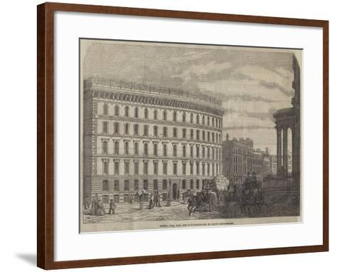 Messers Cook, Sons, and Company's Warehouse, St Paul's Churchyard--Framed Art Print