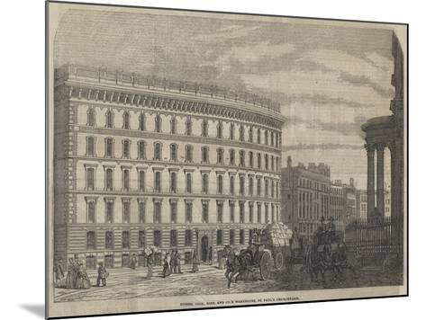 Messers Cook, Sons, and Company's Warehouse, St Paul's Churchyard--Mounted Giclee Print