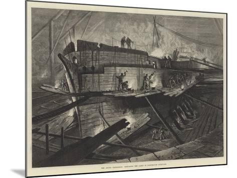 The Arctic Expedition, Preparing the Alert in Portsmouth Dockyard--Mounted Giclee Print