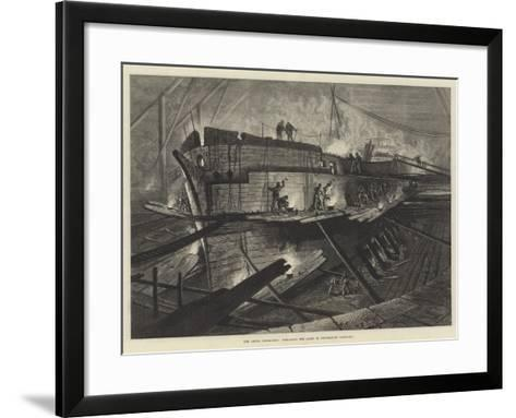 The Arctic Expedition, Preparing the Alert in Portsmouth Dockyard--Framed Art Print