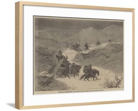 The Road to Constantinople, a Travelling Party Crossing the Balkans--Framed Art Print