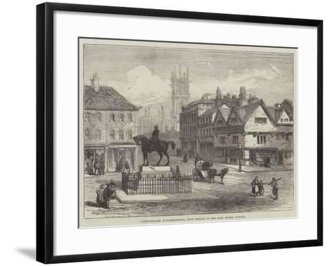 Queen-Square, Wolverhampton, with Statue of the Late Prince Consort--Framed Art Print