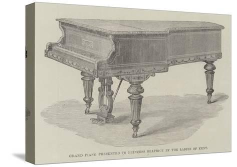 Grand Piano Presented to Princess Beatrice by the Ladies of Kent--Stretched Canvas Print