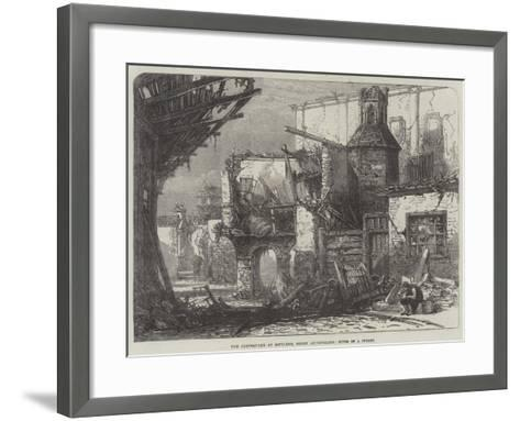 The Earthquake at Mitylene, Greek Archipelago, Ruins of a Street--Framed Art Print