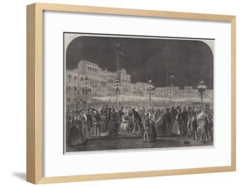 Celebration at Florence of the First Italian National Festival--Framed Art Print