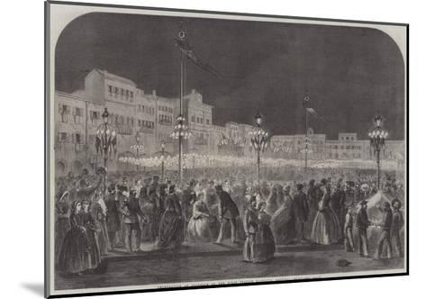 Celebration at Florence of the First Italian National Festival--Mounted Giclee Print