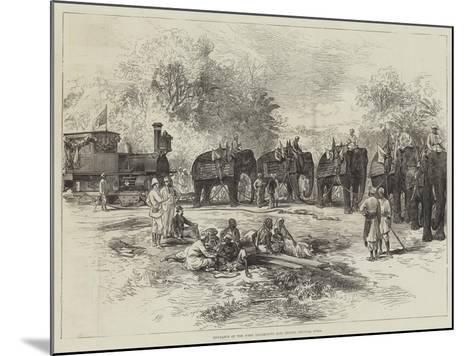 Entrance of the First Locomotive into Indore, Central India--Mounted Giclee Print