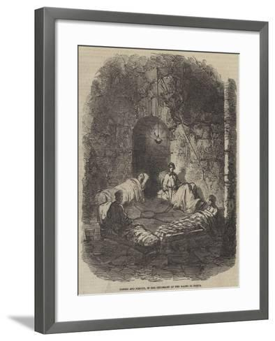Poerio and Pirouti, in the Infirmary of the Bagno Di Ischia--Framed Art Print