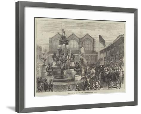Arrival of the Prince of Wales at the Bethnal-Green Museum--Framed Art Print