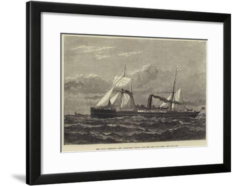 The Union Company's New Steam-Ship Trojan, for the Cape Mail Line--Framed Art Print