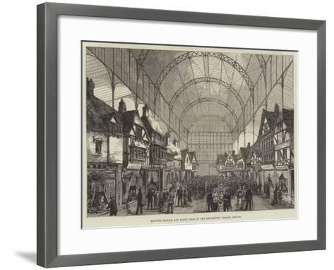 Masonic Bazaar and Fancy Fair in the Exhibition Palace, Dublin--Framed Art Print