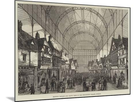 Masonic Bazaar and Fancy Fair in the Exhibition Palace, Dublin--Mounted Giclee Print