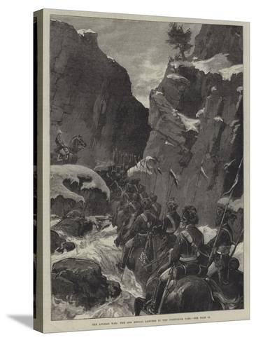 The Afghan War, the 10th Bengal Lancers in the Jugdulluk Pass--Stretched Canvas Print