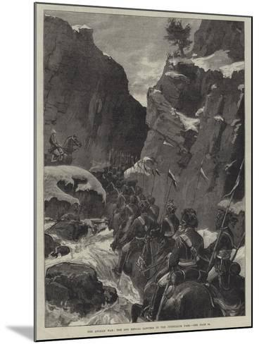 The Afghan War, the 10th Bengal Lancers in the Jugdulluk Pass--Mounted Giclee Print
